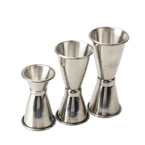 Stainless Steel Cocktail Drink Measure Double Shaker Cup Mixer Set Large size