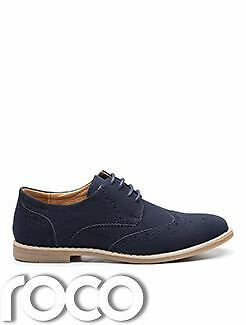 Boys Navy Shoes, Navy Brogues, Boys Navy Suede Shoes, Boys Wedding Shoes