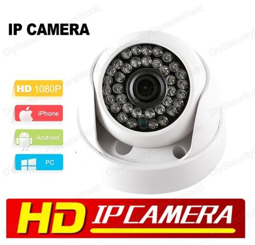 Mobile View HD IP Network Indoor Dome Camera 2MP 1080P 3.6mm lens 36IR ONVIF