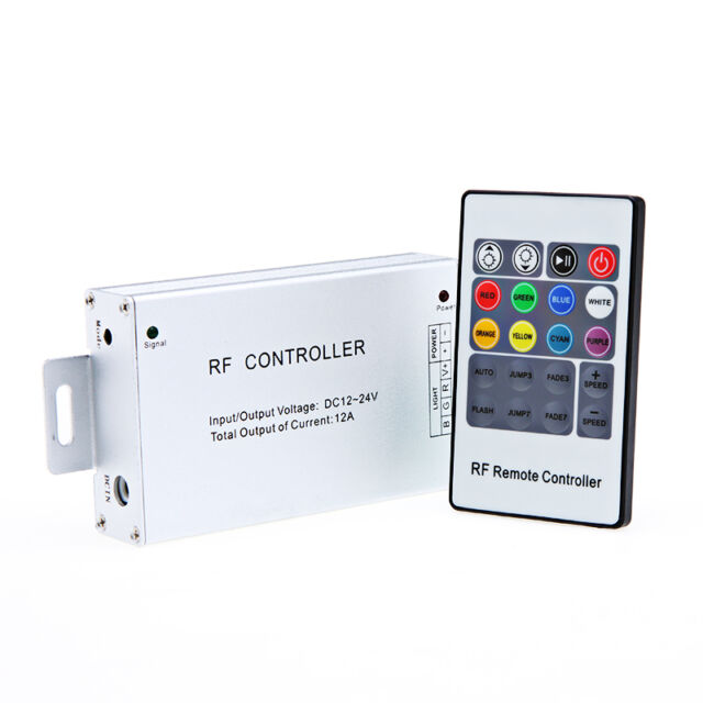 12-24v Rgb Led Controller W/ 20 Key Rf Remote Cheap Sales Home Electronic Accessories