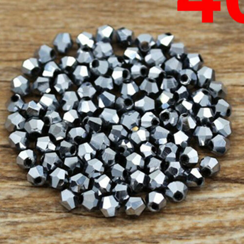 Free shipping 100-500pcs  Crystal 4mm 5301# Bicone Beads YOU Pick color