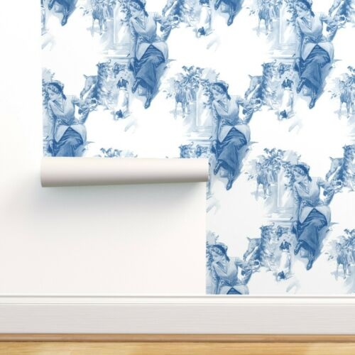 Wallpaper Roll Animal Horse Dogs Woman Toile Dog Equine Equestrian 24in x 27ft