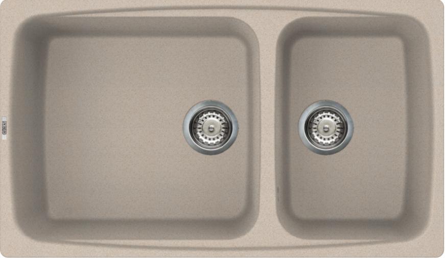 Lavello Elleci Incasso Cucina Fox 2 Vasche Vasche Vasche LGF45051NA 86x50 Avena 4d1128
