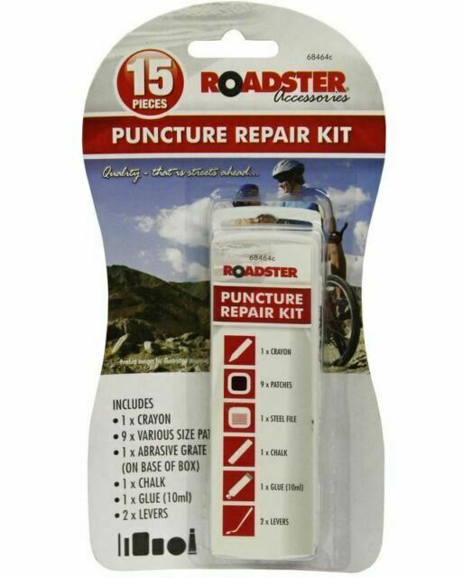 12Pcs MTB Bike Bicycle Puncture Repair Kit Inner Tube Tyre Patches Self-adhesive