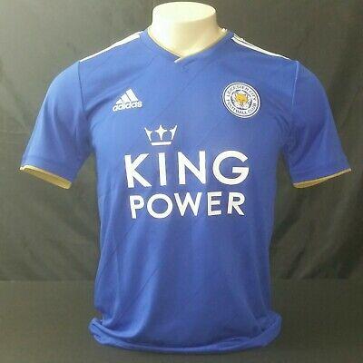 preocuparse tirar a la basura Sueño  Adidas Leicester City FC Home Jersey 18/19, Blue/White, Size S | eBay
