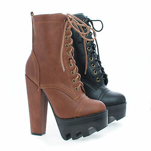 Vive58-Round-Toe-Lace-Up-Lug-Sole-Platform-High-Heel-Combat-Ankle-Boots