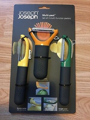 *CLEARANCE* Joseph Joseph 3 Piece Peeler Set Serrated/Straights/Julienne RRP £24