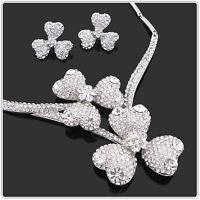 Shamrock Wedding Bridal Statement Jewellery Set Use Genuine Swarovski Crystals