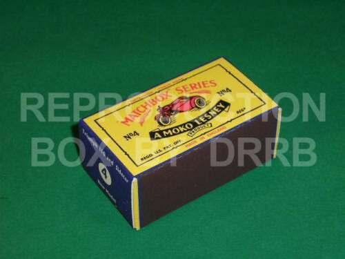 Matchbox 1-75 # 4 C TRIUMPH 110 Moto y Sidecar-Caja de reproducción por drrb
