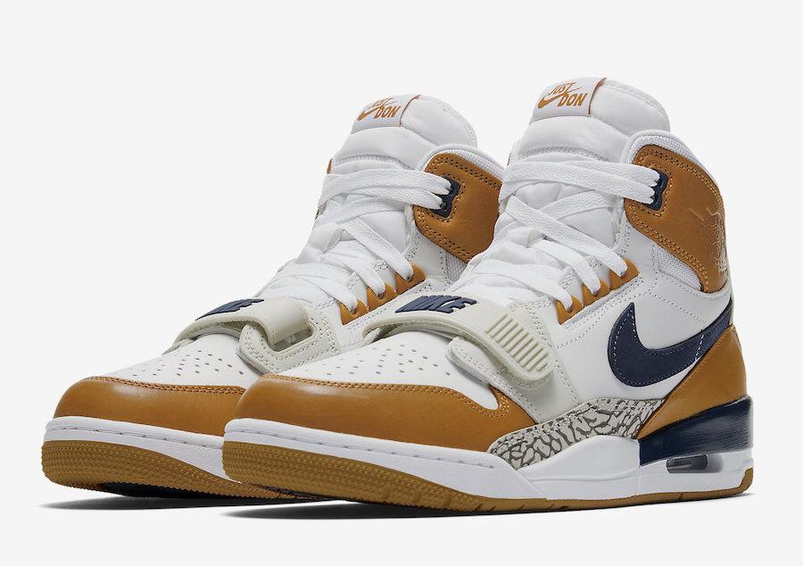 Nike air jordan vermächtnis vermächtnis vermächtnis 312 nrg sz 10,5 weiße mitternacht marine ginger aq4160-140 c89bd1