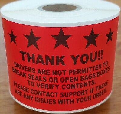 GrubHub Favor Shipt! Stickers Bag Sealers Labels Rating Reminder for DoorDash