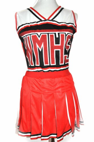 NEW RED GIRLS CHEERLEADER COSTUME TOP SIZE XS SM MED WITH DEFFECTS TOP ONLY