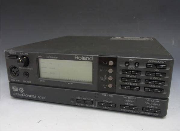 Roland / Sound Canvas SC-88 MIDI Sound Module SC88 w/Tracking F/S Body only (4)