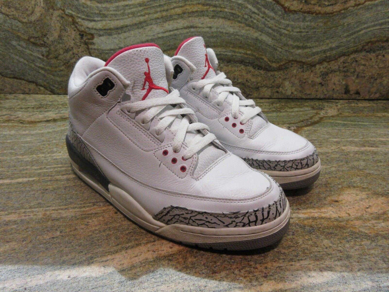 2003 Nike Air Jordan 3 III Retro SZ 9 White Cement OG 88 NRG JTH Dunk 136064-102