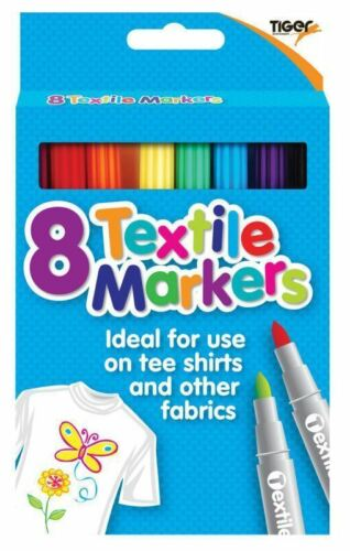 Fabric Pens//Arts//Crafts//Design//Kids//Create//Clothes Tiger 8 Textile Markers