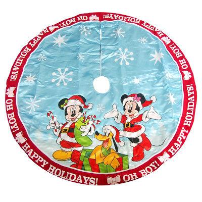 Mickey and Minnie Disney Christmas Tree Skirt, Red/Blue ...