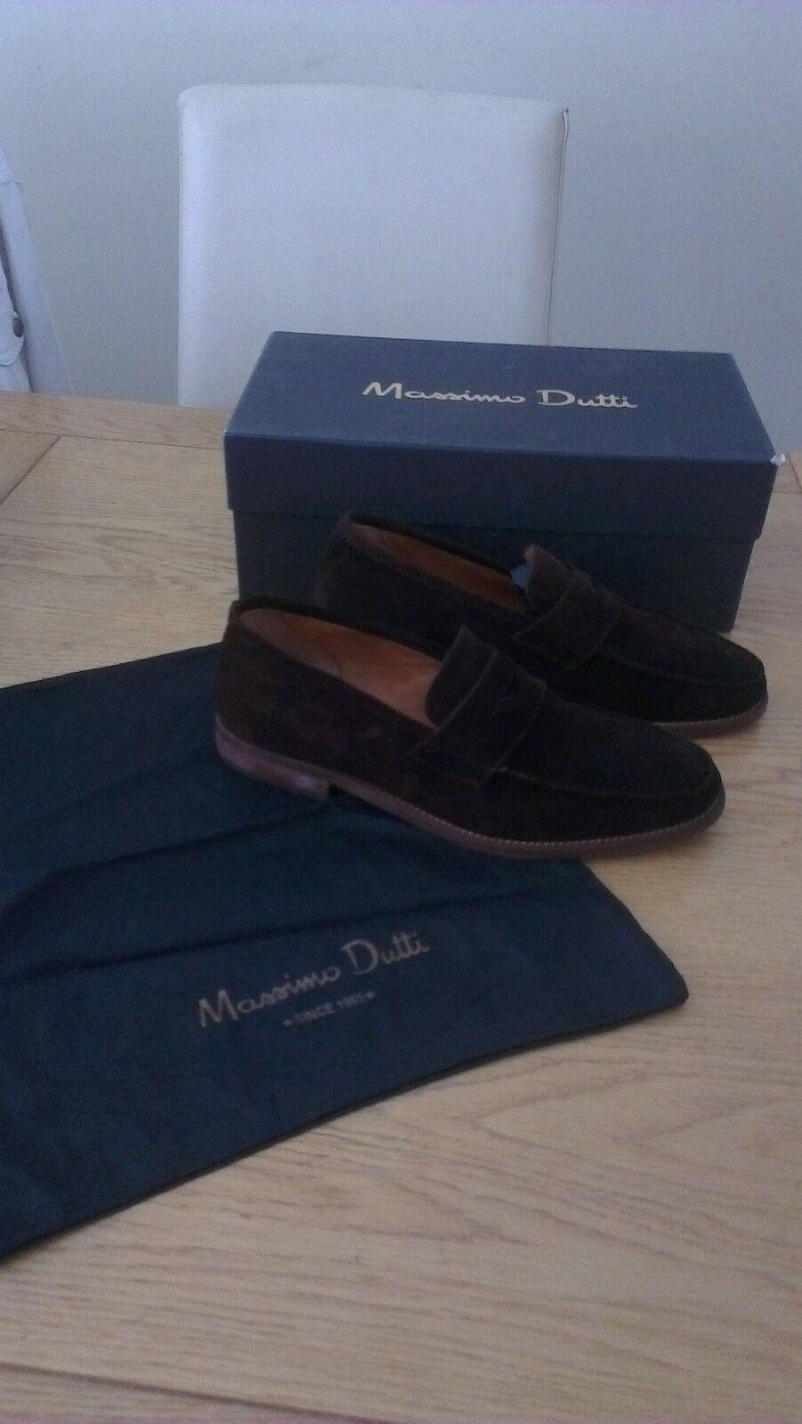 MASSIMO DUTTI BROWN SUEDE MOCASIN 6 Schuhe - UK SIZE 6 MOCASIN / 40 - EX CONDITION 0c3daf