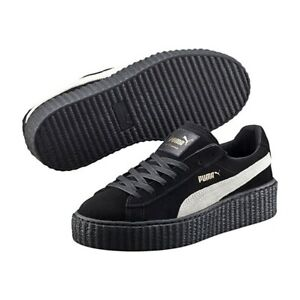 Details about NIB Puma Womens Size 7.5 Fenty By Rihanna SUEDE CREEPERS Shoes BLACK 361005 01