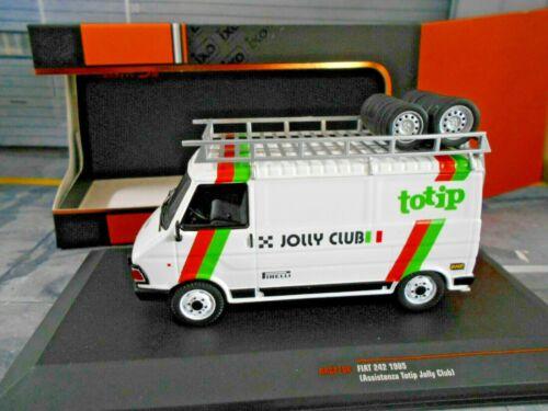 FIAT 242 RALLYE ITALIA Jolly Club TOTIP 1985 service Lancia 037 Biasio Ixo 1:43