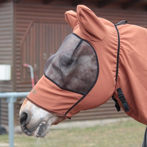 Boett mouches masque Sweet Itch Hood-Chestnut (Taille 140-170)