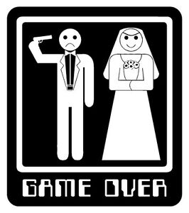 funny t shirt game over bride groom wedding marriage best. Black Bedroom Furniture Sets. Home Design Ideas