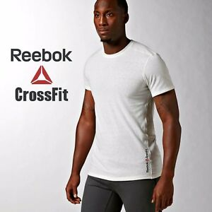 Reebok-crossfit-homme-Triblend-crew-tee-shirt-Haut-d-039-Entrainement-Fitness-Gym-FREE-POST