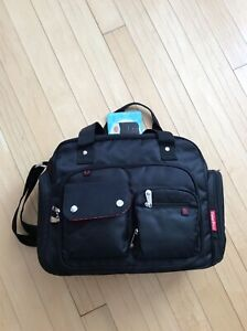 2c23663aee2 Image is loading Fisher-Price-Black-Fastfinder-Pocket-System-Tote-Diaper-