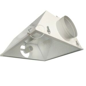 """FLOW MASTER Air Cooled Reflector Hydroponics Grow Light Reflector Hoods 6"""" LARGE"""