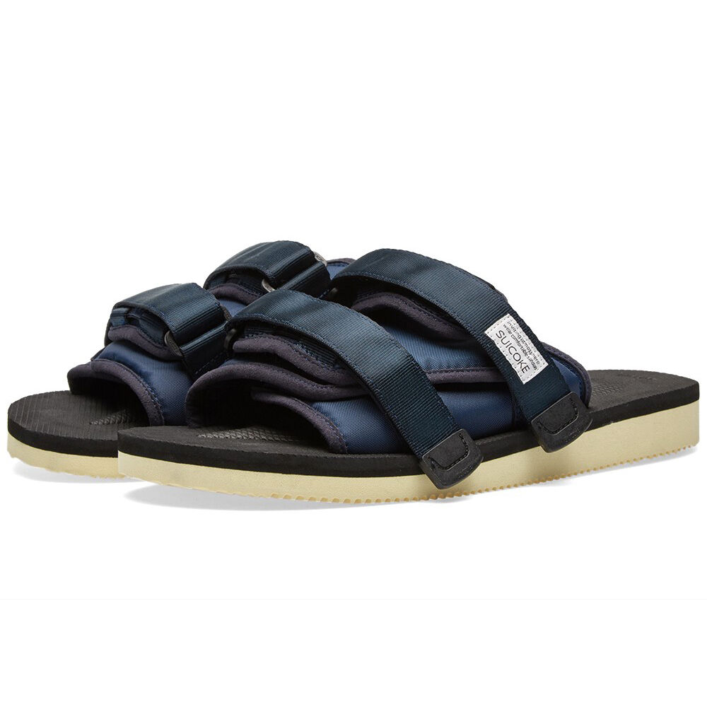 Suicoke MOTO   OG-056 Navy Platform Sandals Slides Slippers Slip-On azul SK056NY