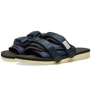 64f08a2f4e42 Suicoke MOTO   OG-056 Navy Platform Sandals Slides Slippers Slip-On ...