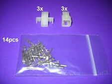 """3 Circuits Molex Connector Lot 5 Matched Set w//18-24 AWG .062/"""".Mounting Ear"""