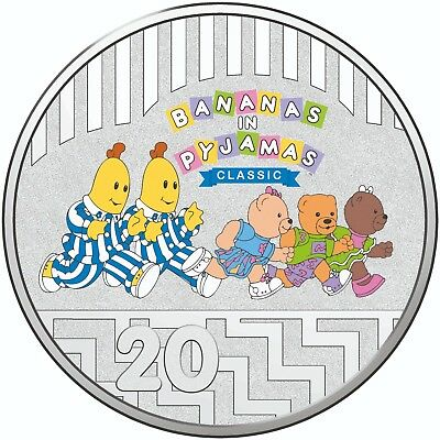 Australia 2017 25 Years Bananas In Pajamas 5c /& 20c Coins /& Stamp PNC Cover