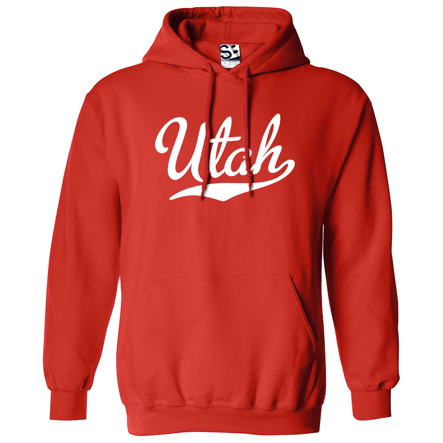 Utah Script & Tail HOODIE - Hooded School Sports Team Sweatshirt - All Farbes