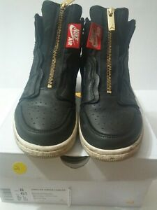 Air Jordan 1 High Zip # AQ3742 016 Black /& Sail Women SZ 6-12