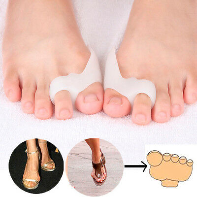 2pcs Lady Girl Silicone Shield Bunion Guards Pad Aid Toe Separators Pain Relieve