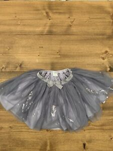 Girls Tutu Skirt Silver Sparkly Sequin Mamas And papas Age 18-24 months