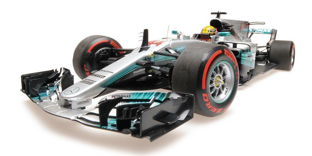 Lewis Hamilton 2017 World Champion Mexico GP Mercedes Minichamps DIecast in 1 18