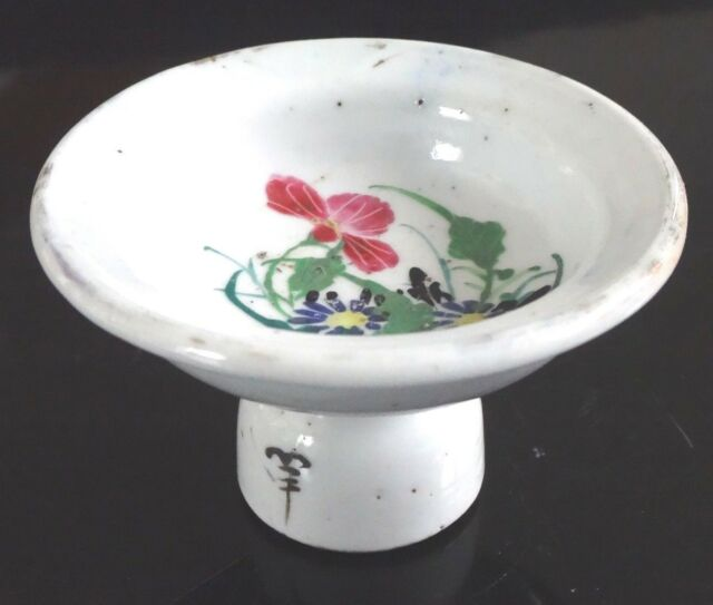 ancienne coupelle porcelaine chine Old chinese porcelain painted XIX mark