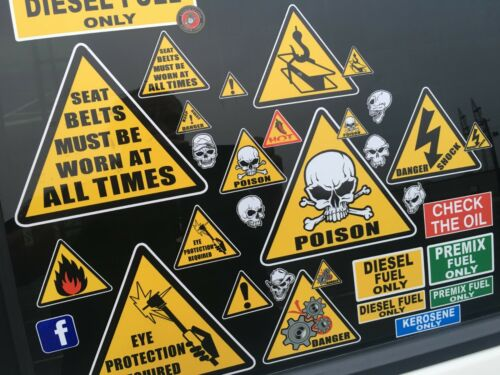Warning Stickers 13 Diesel Fuel Only Decals Laminated Quality.