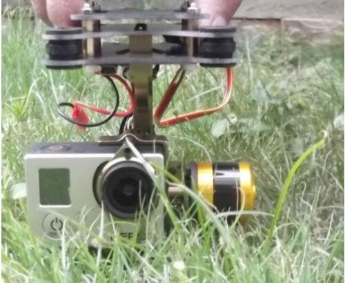 Hifly RTF Gopro 3 Gimbal Brushless Camera Mount /& Controller /& Motor