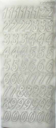 Grand 2cm Italic numéros peel off feuilles d/'autocollants fabrication carte artisanat couleur choix
