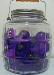 Marbles-1-Huge-Glass-Gem-Purie-Jewel-Marble-Sweet-Purple-Play-Collect-Display