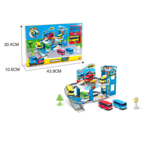1 SET Bus Station Parking Lot With 2 CAR Toys The Little Bus TAYO Child/'s Gift