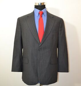 Brooks-Brothers-346-40S-Sport-Coat-Blazer-Suit-Jacket-Gray-Pinstripes