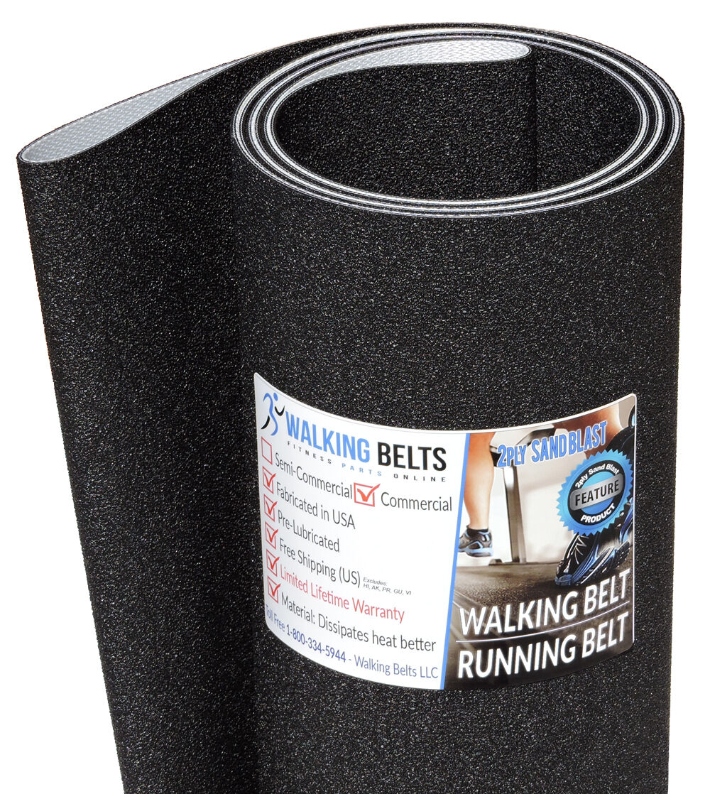 Precor C954i S N  AJKE, AEWY 240V 240V 240V Treadmill Walking Belt Sand Blast 2ply 22a239