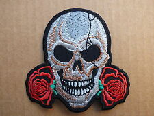 ECUSSON PATCH THERMOCOLLANT CRANE 2 ROSES country biker v twin usa /8.6 x 8.8cm