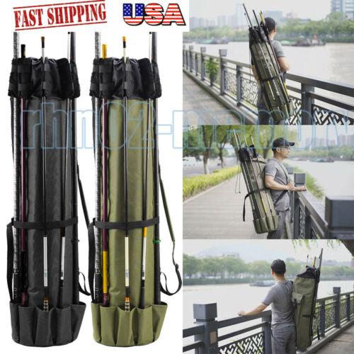 Details about  /USA Fishing Rod Bag Pole Case Carry Shoulder Tackle Tube Portable Travel Holder