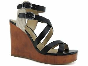 bf1818cde8d Lucky Brand Women  039 s Lahoya Strappy Platform Wedge Sandals Back ...