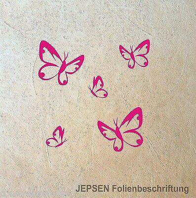 5 Wandtattoo Butterfly Schmetterlinge im Set - Schmetterling Set S