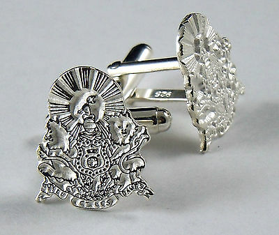Kappa Alpha Order, KA,  Cufflinks Crest .925 Sterling Silver By McCartney